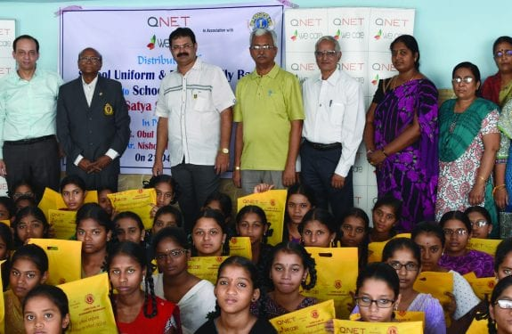 qnet distributes school supplies